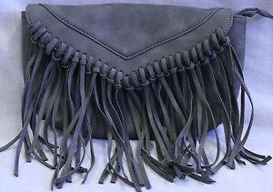 Grey tassel side bag