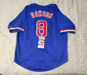 Chicago Cubs ANDRE DAWSON Signed Autographed baseball Jersey JSA COA size XL