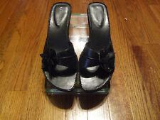 Women's Apostrophe Lynette Black Leather Sandals Size 8.5 M