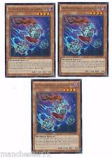 X3 YUGIOH THE PHANTOM KNIGHT OF CLOVEN HELM WIRA-EN004 RARE 1ST IN HAND