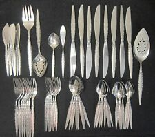 Oneida Community Stainless Venetia Pattern 61 pc Flatware Set For 8