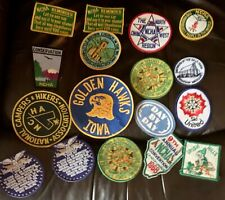 Lot of a Variety of 17 Vintage Iron On / Sew On Patches - US Midwest - Iowa NCHA