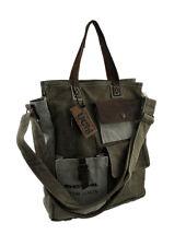 Vintage Postal Inspired Domestic Mail Canvas Crossbody Bag w/Leather Trim