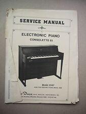 Lo Duca Service Manual Electronic Piano Consolette 61 Manual