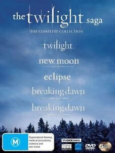 The Twilight Saga (DVD, 2013, 5-Disc Set) Complete Collection NEW SEALED