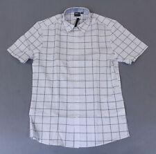 ASOS Men's Slim Work Shirt In Check SV3 White Medium NWT