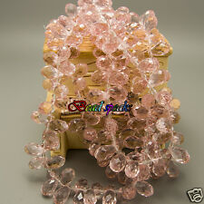 30 Pcs Salmon Pink Top-drilled Faceted Teardrop Glass Crystal Beads 13×8mm-CH234