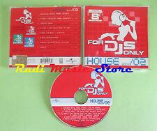 CD FOR DJS ONLY HOUSE 2004/02 compilation 2004 JUNIOR JACK MAT'S DJ JANI (C33)