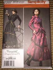 Simplicity Victorian Skirt Jacket Costume Sewing Pattern 14-20 2207 Steampunk