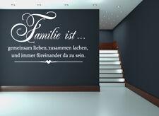 Wandtattoo Spruch Familie ist lieben lachen WallArt Wandaufkleber Sticker WA-208