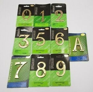 "Polished Brass Door Numbers 3"" for House Flat etc..."