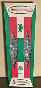 Vintage Silver Christmas Tinsel Garland In Box Flame-Proof 25FT Long Unused NOS
