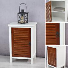 Anrichte Flurkommode Konsole braun Tür mit Lamellen Holz Beistelltisch Kommode