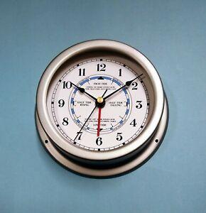 MEGA-QUARTZ SHIPS Time and Tide Clock matt GREY case