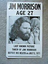 Vintage Doors Jim Morrison Last Known Picture Taken Before His Death 1971 Poster