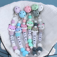 Silicone Beads Fox Baby Teething Personalised Dummy Pacifier Chain Clips Holder