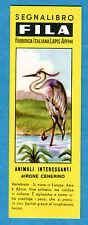 Segnalibro-Bookmark - FILA - AIRONE CENERINO - Animali Interessanti