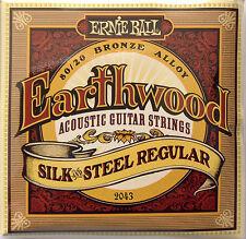 Ernie Ball 2043 Silk & Steel 80/20 Bronze Acoustic Guitar Strings 13-56 regular