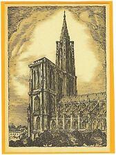 AK Straßburg Strasbourg Cathedrale Elsass signiert