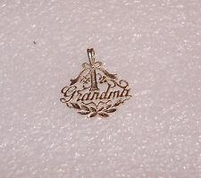 14K YELLOW GOLD #1 GRANDMA DIAMOND CUT NECKLACE PENDANT N305-X