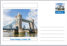 "Landmarks - souvenir postcard (glossy 6""x4""card) - Tower Bridge, London"