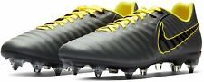 NIKE TIEMPO LEGEND 7 ACADEMY SG-PRO ANTI-CLOG - ALL SIZES - GREY/YELLOW LEATHER