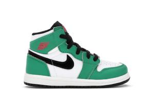 Nike Air Jordan 1 OG TD Lucky Green Size 2c Toddler Toddlers baby St Patricks