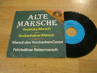 """7"""" Single Alte Märsche Radetzky Marsch Vinyl Amiga DDR Quartett 5 56 054"""