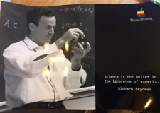 APPLE THINK DIFFERENT  RICHARD FEYNMAN  POSTER 18x12in 46x31cm PHOTO  PAPER