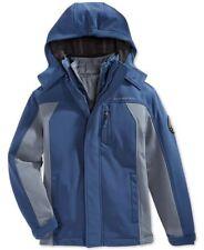 Weatherproof Boys' 3-in-1 Systems Softshell Hooded Jacket Navy/Grey XL (18-20)