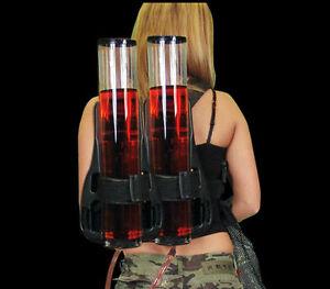 Backpack Dispenser Dual Drink Beer liquid Shot Pump Gun PUB Beer Machine kit