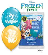 "6 pc 12"" Disney Frozen Fever Latex Balloons Party Decoration Birthday Elsa Olaf"
