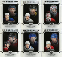 U-Pick UD Portraits Vets & Rookies 2019-20 Upper Deck Series One & Two Insert