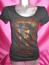 VICTORIAS SECRET PINK   SEQUIN BLING T SHIRT SIZE XS  SO CUTE!