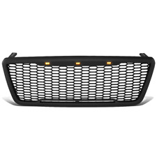 For 2004-2008 Ford F150 LED Front Bumper Mesh Grille Grill Badgeless Style Black