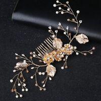 Elegant Tiara Bridal Wedding Bride Jewelry Headpieces Hair Accessories Comb