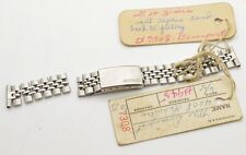 Vintage Beads of Rice Ladies Seiko 14mm SS Foldover Clasp Watch Bracelet Links