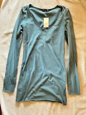 City Lights #884 Women's Long Sleeve Top Dusty Blue Size Small