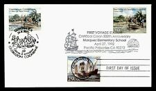 DR WHO 1992 FDC JOINT ISSUE ITALY COLUMBUS 1ST VOYAGE COMBO  f30873
