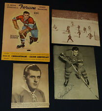 1940/50's MAURICE RICHARD MONTREAL CANADIENS PAPER CUT OUT PHOTO (4) - ORIGINAL