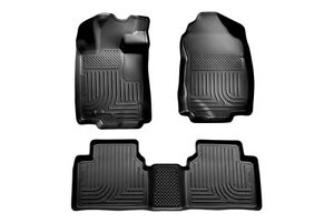 2010 2011 2012 Ford Fusion Husky Black WeatherBeater Front & 2nd Row Floor Liner