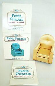 Petite Princess Dollhouse Fantasy Furniture Satin Guest Chair 1964 IDEAL OB
