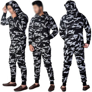 Kids Boys Girls stylish camouflage all in one zip up jumpsuit 7-13 Years