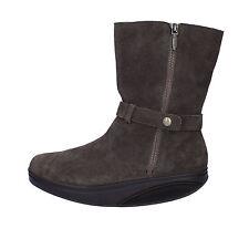 scarpe donna MBT 37 EU stivaletti marrone camoscio AB231-B