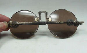 Rare Old collection Chinese Oriental Vintage Dark brown Crystal glasses