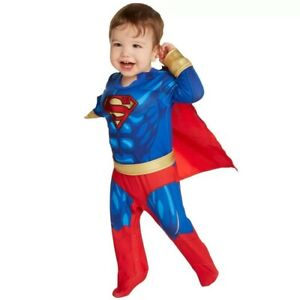 Superman Infant Baby Muscle Jumpsuit Halloween Costume - 6-12 Months #4493