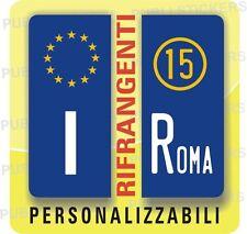 2 ADESIVI TARGA EUROPA AUTO, CAMION CON ANNO IMMATRICOLAZIONE E PROVINCIA