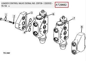 John Deere Loader Spool Valve AT29662 - T30939 AT29938 AT29939 T30938 T30948+