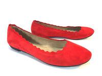 CROWN VINTAGE red suede ballet leather slip on loafer shoes 10 FREE SHIP!
