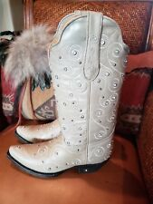 Brand New Diamond T Winter White Cowgirl/Wedding Boots size 7- New in Box $99.99